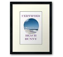 Beach Bunny Framed Print
