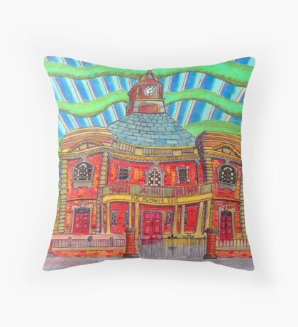 380 - PLAS MWYNWYR, RHOS - DAVE EDWARDS - COLOURED PENCILS - 2013 Throw Pillow