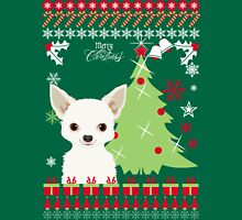 Chihuahua Ugly Christmas Sweater Womens Fitted T-Shirt
