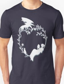Ex Libris - White silhouette with shadow T-Shirt