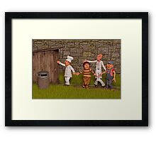 Desperate For The Toilet Framed Print