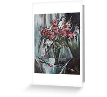Still-Life with Red Flowers Greeting Card
