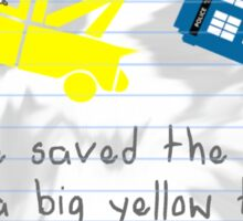 Big yellow truck 2 Sticker