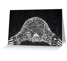 THE MOLE - oil portrait Greeting Card