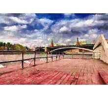 At Moscow river painting Photographic Print