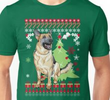 German Shepherd Christmas Sweater Unisex T-Shirt