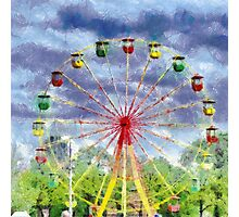 Ferris wheel painting Photographic Print