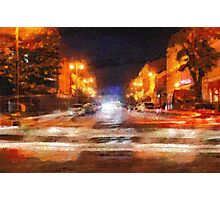 Night city painting Photographic Print