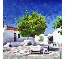 Tangerine tree painting Photographic Print
