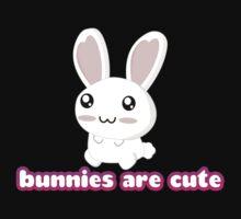 Bunnies are cute! One Piece - Short Sleeve