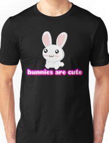Bunnies are cute! Unisex T-Shirt