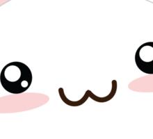 Fat Kawaii Bunny Sticker