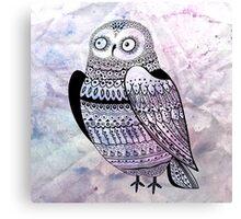 graphic owl Canvas Print