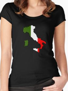 Map of Italy Women's Fitted Scoop T-Shirt