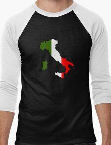 Map of Italy Men's Baseball ¾ T-Shirt