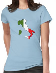 Map of Italy Womens Fitted T-Shirt