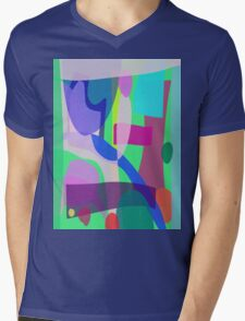 Reminiscence of a Park Mens V-Neck T-Shirt