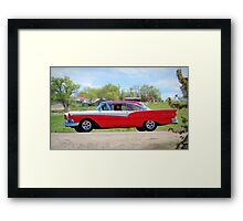 Prom Chariot...57 Ford Fairlane 500 Framed Print