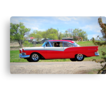 Prom Chariot...57 Ford Fairlane 500 Canvas Print