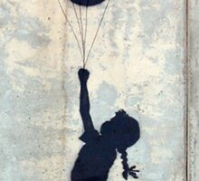 Floating Balloons by Banksy Sticker