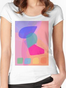 Four Buttons Women's Fitted Scoop T-Shirt