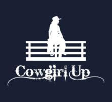 Cowgirl Up in white Kids Clothes