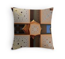 Cross Pierced Throw Pillow