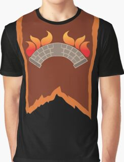 BANNER CREST SIGIL burning bridge BRIDGEBURNERS Graphic T-Shirt