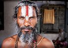 Sadhu Holy man Jaipur City the pink City Rajasthan India by Heather Buckley