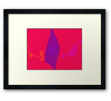 Purple Flame Framed Print