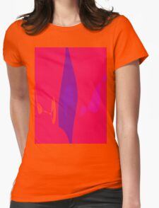 Purple Flame Womens Fitted T-Shirt