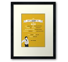 J.R.R. Tolkien Quote Art - 'I am in fact a hobbit' Framed Print