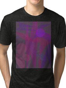 Flower Stars Purple Moon Tri-blend T-Shirt