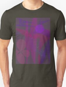 Flower Stars Purple Moon T-Shirt
