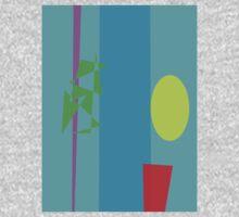 Bamboo Flowerpot Moon One Piece - Long Sleeve