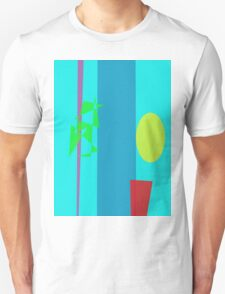 Bamboo Flowerpot Moon Unisex T-Shirt