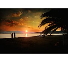 Sunset over Mytilene Photographic Print