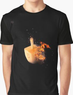 Flaming Sevivon (or Dreidel) a spinning top traditionally played during Chanukah Graphic T-Shirt