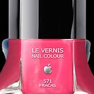 Pink Fracas apple Nail Poilsh iphone 5, iphone 4 4s, iPhone 3Gs, iPod Touch 4g case by www. pointsalestore.com