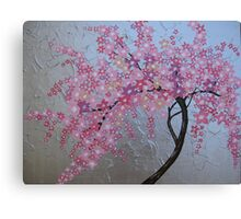 Japanese cherry blossom in London Canvas Print