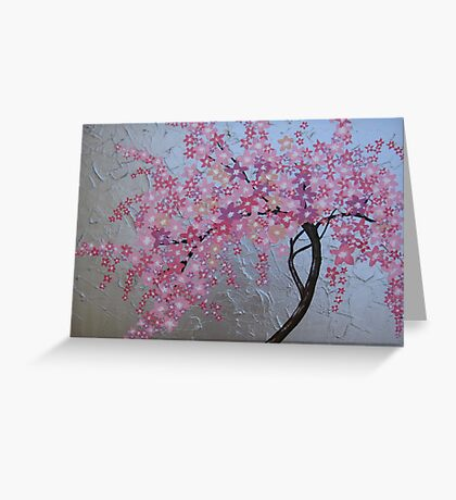 Japanese cherry blossom in London Greeting Card