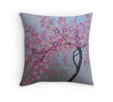 Japanese cherry blossom in London Throw Pillow