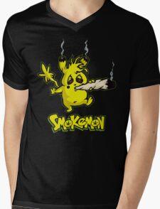 SMOKEMON Mens V-Neck T-Shirt