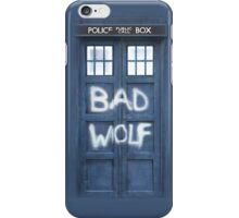 Tardis Bad Wolf Case iPhone Case/Skin