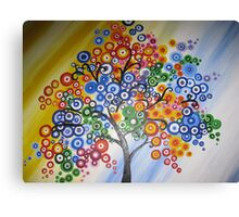 happy tree II- be bright and breezy! Canvas Print