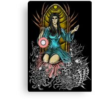 Lady Night Coloring Canvas Print