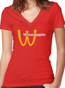 WISE-DONALDS Women's Fitted V-Neck T-Shirt