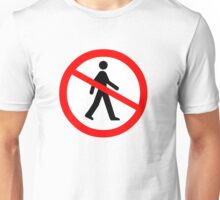 No Entry Symbol Unisex T-Shirt