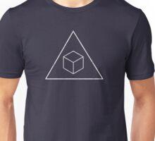 Delta Cubes - Distressed White Unisex T-Shirt