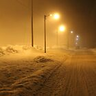 Winter street. Small town. by UpNorthPhoto